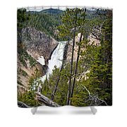 Falls In The Grand Canyon Of Yellowstone Shower Curtain