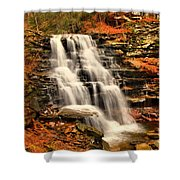 Falls In The Woods Shower Curtain