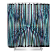 Falls Of Blue Shower Curtain