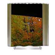 Fall's Reflective Moment Shower Curtain