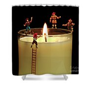 False Alarm Shower Curtain