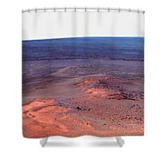 False Color Mosaic Of Greeley Haven Shower Curtain