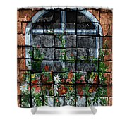False Windowbox Shower Curtain