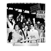 Families Waving And Greeting The Return Shower Curtain