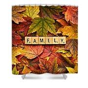 Family-autumn Inpsireme Shower Curtain