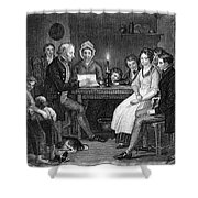 Family Reading, 1840 Shower Curtain