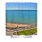 Family Time At The Erie Basin Marina Shower Curtain