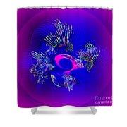 Fan Shower Curtain