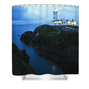 Fanad Head Lighthouse, County Donegal Shower Curtain