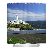 Fanad Lighthouse, Co Donegal, Ireland Shower Curtain