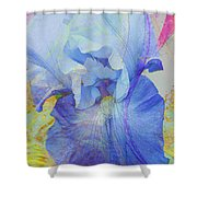 Fanciful Flowers - Iris Shower Curtain