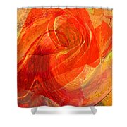 Fanciful Flowers - Rose Shower Curtain