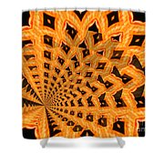 Fancy Coral Shower Curtain