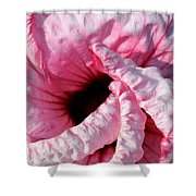 Fancy Hibiscus Shower Curtain