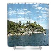 Fannette Island Boat Party Shower Curtain