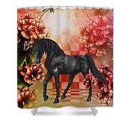 Fantasy Black Horse Shower Curtain