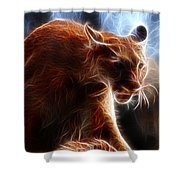 Fantasy Cougar Shower Curtain by Paul Ward