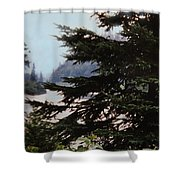 Far From Today Shower Curtain