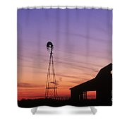 Farm At Sunset Shower Curtain