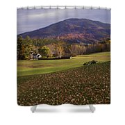 Farm By Ascutney Mountain Vermont Shower Curtain