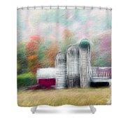 Farm In Fractals Shower Curtain