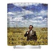 Farm Life - A Good Crop Shower Curtain by Nikki Marie Smith