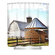 Farm Life Shower Curtain by Todd Hostetter