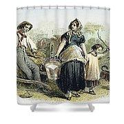 Farm Scene, C1870 Shower Curtain