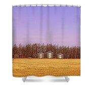 Farm Scene North Of Calgary, Alberta Shower Curtain