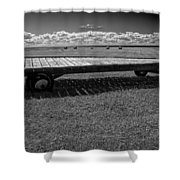 Farm Wagon In A Field On Prince Edward Island Shower Curtain