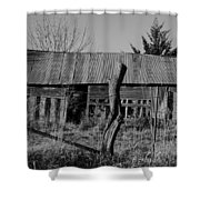 Farmers Building Shower Curtain