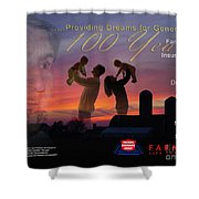Farmers Poster Shower Curtain