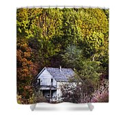 Farmhouse In Fall Shower Curtain