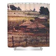 Farming In The Rift Valley Shower Curtain