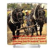 Farming Looks Easy Shower Curtain by Ian  MacDonald