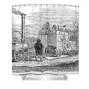 Farming: Threshing, 1851 Shower Curtain