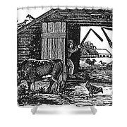 Farming: Threshing Shower Curtain