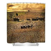 Farming To Beat The Storm Shower Curtain