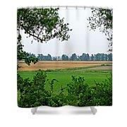 Farmland View Shower Curtain