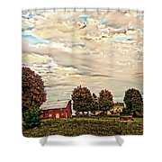 Farms From The Fifties Shower Curtain