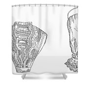 Fashion: Chemisette, 1854 Shower Curtain