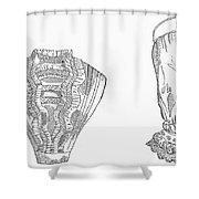 Fashion: Chemisette, 1854 Shower Curtain