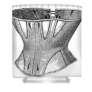 Fashion: Corset, 1869 Shower Curtain
