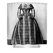Fashion: Dress, C1865 Shower Curtain