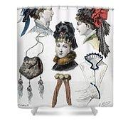 Fashion: Hats, C1875 Shower Curtain