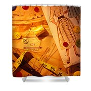 Fashion Old Dress Pattern Shower Curtain by Garry Gay