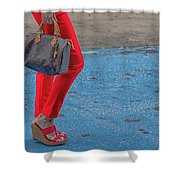 Fashionably Red Shower Curtain