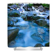 Fast-flowing River Shower Curtain