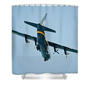 Fat Albert Flies Low Over Our Lanai Shower Curtain