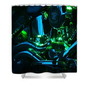 Fat Boy Abstract Shower Curtain